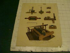 Original Engraving:1700's or 1800's - hand colored - LEATHER - stott's machine