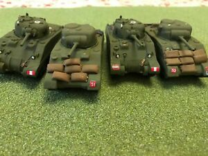 4nr Painted 1/72 Italeri/Armourfast Sherman M4 and M4A2 tanks