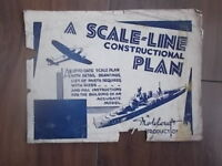 VINTAGE 1940s MODELCRAFT SCALE-LINE PLAN - DESTROYER HMS CHURCHILL