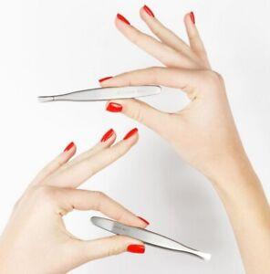 Staleks HANDMADE Stainless PRO Premium Tweezers for Eyebrows EU Seller