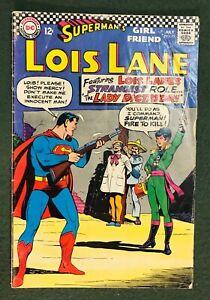 Superman's Girlfriend Lois Lane #75 DC Comics Silver Age gun firing dictator gvg