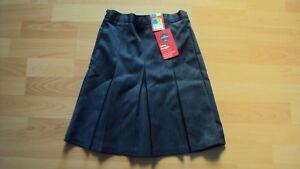 Marks & Spencer Girl's School Grey Skirt Adjustable Waist Long Length 6 - 7 Yrs