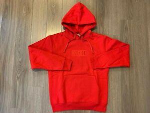 Kith Classic Box Logo Hoodie red sz M