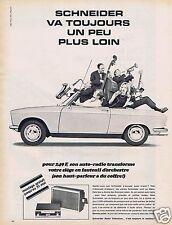 Publicité Advertising 026 1967 Schneider auto-radio