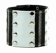 Punk Zipper And Rivet Brit Punk Goth Rockabilly Funk Vegan Bracelet