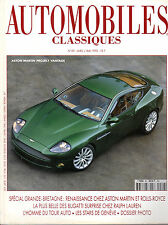 REVUE MAGAZINE AUTOMOBILES CLASSIQUES N°89 04/05 1998 ASTON MARTIN JAGUAR XJR V8
