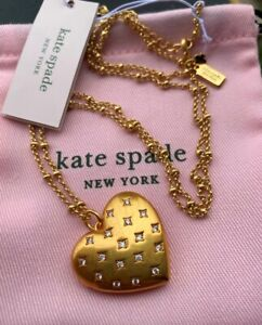 Auth Kate Spade New York My Precious Heart Locket Pendant Necklace