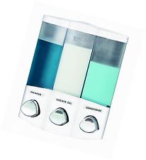 Euro Series AVIVA TRIO Bath Soap Shampoo Conditioner Shower Bathroom Dispenser