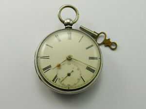 VINTAGE 1868 SOLID SILVER GENTS POCKET WATCH BY LISTER & SON NEWCASTLE ON TYNE