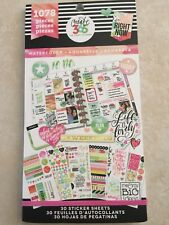 Create 365™ The Happy Planner™ Watercolor Value Pack Stickers 1078 NEW