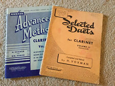 Lot Of 2 - Rubank Educational Library Books For Advanced Clarinet
