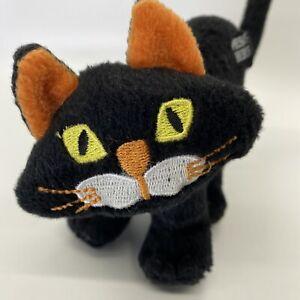 "Dan Dee Screeching Black Cat Arched Back 7"" Plush Halloween Sounds - WORKS!"