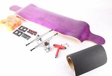 "41"" Blank Purple Drop Down Longboard with Orange wheels Complete Kit"
