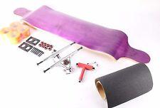 """41"""" Blank Purple Drop Down Longboard with Orange wheels Complete Kit"""
