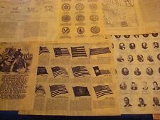 Early American History,Reproduction, Educational, School sets, 1682-1798 4th up