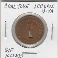 (L)  Token - Leevale, WV - Leevale Colliers - G/F 10 Cents