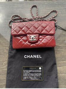 Chanel Wallet On Chain WOC Red Patent Leather Authentic