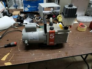 Edwards E1M5 Rotary Vane Vacuum Pump & inlet catchpot HVAC AIR CONDITIONING AC