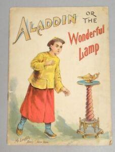 Antique c1900 McLoughlin Aladdin or The Wonderful Lamp Children's Book