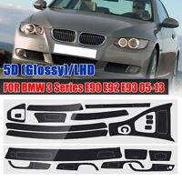 5D Glossy Carbon Fiber Interior Decal Trim For BMW 3 Series E90 E92 E93  !!