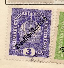 Austria 1918 Early Issue Fine Used 3h. Optd 240496