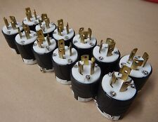 LOT OF 10, Refurb, Pass & Seymour L715-P Turnlok Plug 15A, 277V, 2 Pole, 3 Wire