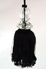 Key Tassel Large Ornate Black Ivory Cut Glass Detail Key Curtain Tassel