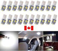 10PCS T10 White 194 168 2825 5050 5SMD LED Bright Car Lights Lamp Bulb Peanut