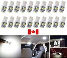 10PCS T10 White 194 168 2825 5050 5SMD LED Bright Car Lights Lamp Bulb Peanut