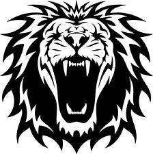 A roaring lion vinyl cut sticker or decal. Great for car or laptop!!!