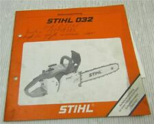 Stihl 032 AV electronic Quickstop Motorsäge Betriebsanleitung ca. 1985