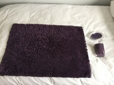 Bathmat With Coordinating Accessories In Purple