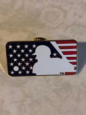 2001 MLB Major League Baseball American Flag Logo Pin *Preowned
