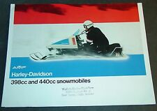 1973 AMF HARLEY-DAVIDSON SNOWMOBILE BROCHURE  6 PAGES  (896)