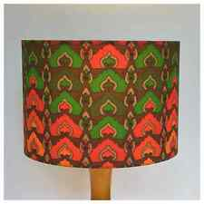 Original 70s Vintage Fabric 30cm Lampshade Lightshade Red Green