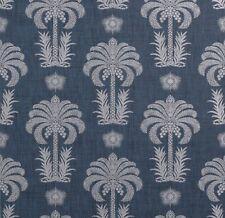 1 DblRl THIBAUT Palm Springs Raffia Navy Hand Print Paperweave Wallpaper $400R