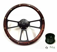 1957 -1963 Chevy Bel Air, Impala, Nomad Wood Steering Wheel, Adapter, Chevy Horn