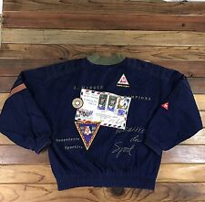 Vintage Le Coq Sportif Sports Coat Patches Embroidery Logos 90's Size S Rare