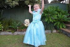 Kids Girls Cinderella Costume Fairytale Dress