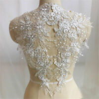 Large Flower Lace Applique Embroidered Sewing Bridal Wedding Dress Patch DIY
