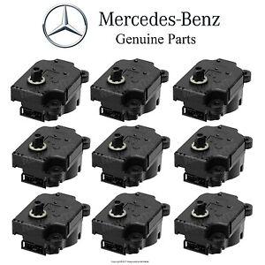 For Mercedes W220 S430 C215 CL55 AMG Set of 9 Actuator Motors Air Flap Control