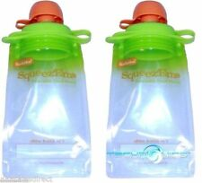 Two Booginhead Screw Top Squeez'Ems Kids Reusable Refillable Homemade Food Pouch