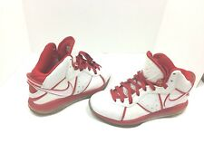 09b743f2856 Nike Lebron James 8 china edition white red sport sneakers 417098 101
