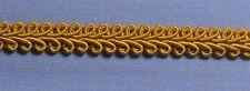 9mm Old Gold Gimp Braid (per metre)
