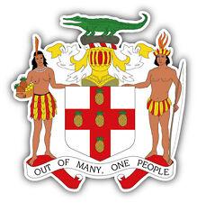 Jamaica Coat Of Arms Car Bumper Sticker Decal 5'' x 5''