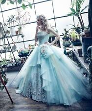 New 2017 Baby blue Quinceanera Dress Ball Gown Prom Party Pageant Formal Dresses