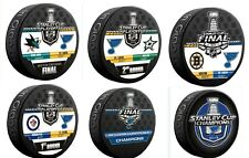 2019 ST LOUIS BLUES STANLEY CUP CHAMPIONS 6 PUCK SET WESTERN CONFERENCE +1ST 2ND