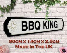 Bbq King Vintage Road Sign / Street Sign