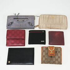 GUCCI, PRADA, LANVIN GG Pattern, more Lot of 7 Wallet Brown, Red, White Canvas