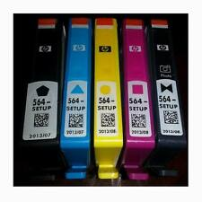 HP SETUP 564 Inkjet Cartridges Set of 5 Black Photo Black Cyan Magenta Yellow